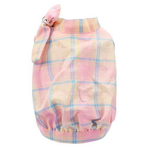 YABAISHI kleine en middelgrote hond blouse puppy hond zomer kleding strik roze huisdier hond lente en zomer T-shirt, S, Zoals getoond