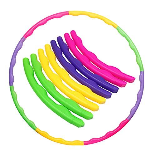 joofang 8 Teile Kinder Hoola Hoop, farbig Reifen, Durchmesser 65 cm,Gewicht 120g, hochwertig, zerlegbar, klein, für Training, Sport & Spiel,Gymnastik für 3–8 Jahre alte Kinder