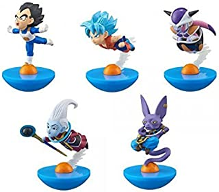 YuraColle Dragon Ball Z Super Trading Collectable Model Figure Collection 5 Pack BOX Son Goku Vegeta Frieza Uis Birus the God of Destruction MegaHouse by Megahouse