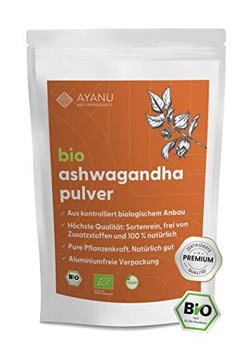 Ashwagandha Pulver BIO, 500g, Wurzel gemahlen, reines Naturprodukt, ayurvedisches Heilmittel