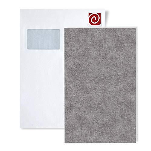 Staal behang EDEM 9031-series | Uni kleuren behang in spachtelputz look glanzend, S-9031-XX:S-9031-17