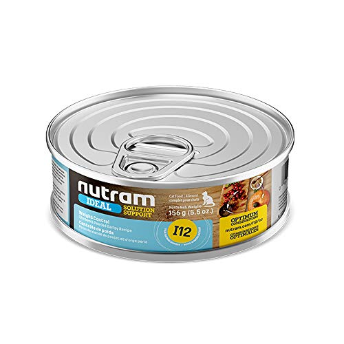 Nutram Cat Weight Control Cans Chicken and Pearled Barley 24x156gm
