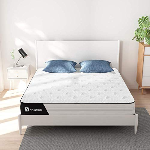 Avenco Super King Mattress, Hybrid Mattress Super King Size, 6FT Super King Size Mattress with Innerspring and Gel Memory Foam for Supportive, Pressure Relief & Cooler Sleeping, 10 Years Support