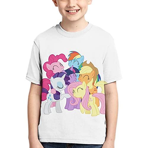 My Rainbow Little Pony Kurzarm Kinder T-Shirt für Jungen Mädchen 3D Print T-Shirt