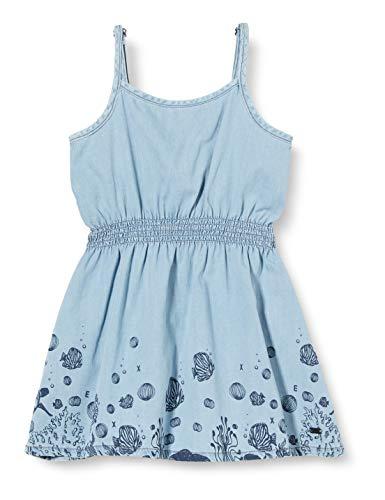 Mexx Girls Dress, Denim Light Wash, 128