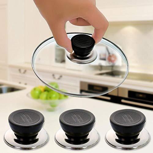 SPRK Batterie de Cuisine Remplacement Ustensile Pot Partie Couvercle Poêle Couvercle Bouton Outils de Cuisine Poignée Accessoires Anti-échaudage Universal