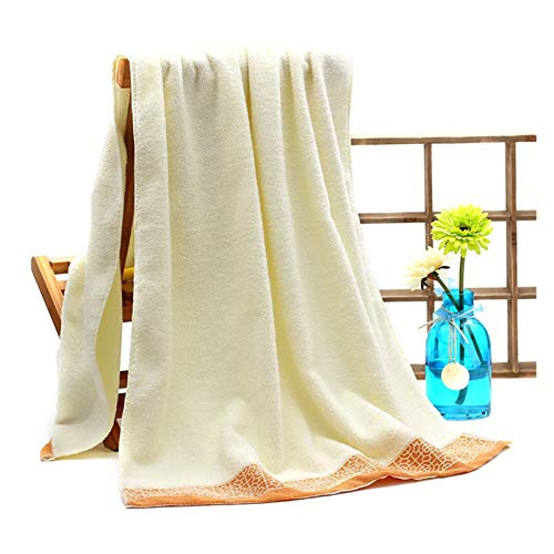 XIN NA RUI Toallas de baño, Soft algodón Absorbente Grueso de 3 Piezas Toalla de Toalla de baño Grande de Estilo Europeo Impreso Toalla de Cara Toalla (Color : Beige Bath Towel)
