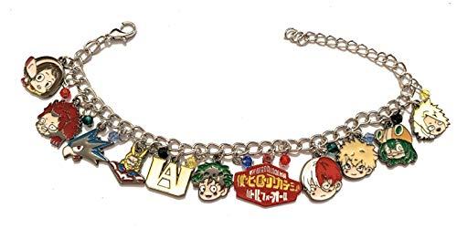giulyscreations My Hero Academia Bracelet en métal sans nickel avec personnages La Mia Accademia des Héros Izuku Midoriya All Might Fantasy Manga Anime Cosplay