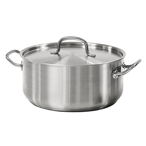 Tramontina Covered Dutch Oven Pro-Line Stainless Steel 9-Quart, 80117/576DS