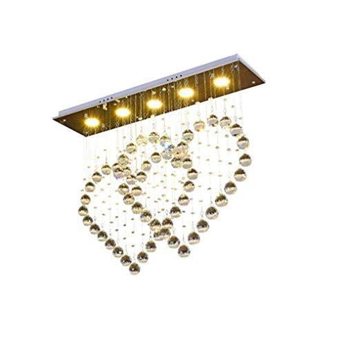 Luz de techo zhhhk Lámpara De Techo LED Creativa Doble Corazones De Cristal Lámpara Colgante Minimalista Moderna Lámpara De Techo Fashion Romance Starlight Diseño Lámpara Colgante Acero Inoxidable 5 B