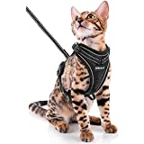 SCIROKKO Cat Harness and Leash Set - Escape Proof Adjustable Puppy Harness for...