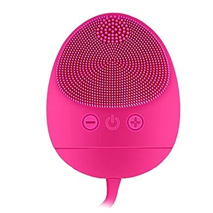 Ckeyin Dispositivo De Belleza Facial,Cepillo Facial de Silicona,Masajeador Facial Eléctrico, Impermeable, a Prueba de Golpes, Seguro, Fácil de Transportar, Adecuado para todo Tipo de Piel