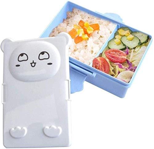 Meyeye Lunch Box voor kinderen en volwassenen, gezonde plastic lunch Bento doos, kinderen voedsel opslag container vragen voor Hug (kleur: blauw)