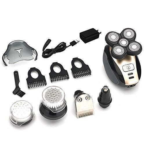 OLACPEA 5-in-1 Multi-funktion Elektrische Rasierer Wasserdicht 5D Rasiermesser Kahl Rasierer Nase Haar Gerät Für Männer