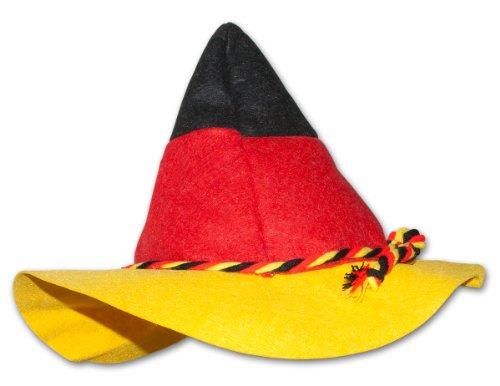 4 x HC fanrtikel ventilateur chapeau bonnet allemagne coupe du monde de football-eM 30 cm