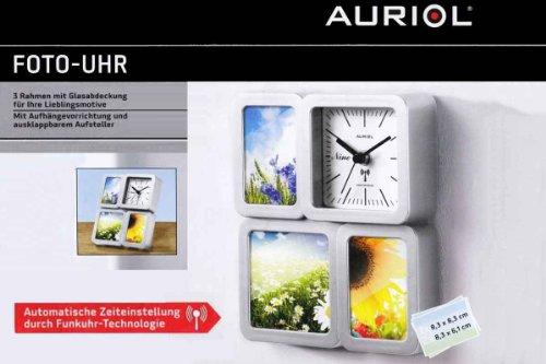 Auriol Foto-Uhr Fotouhr Foto Wanduhr Tischuhr mit Funkuhr - Technologie NEU