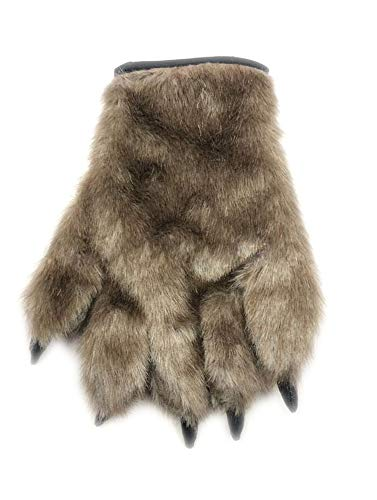 Hellomiko Unisex Halloween Warme Plüsch Bärentatze Handschuhe Schicke Party Tricky Requisiten Niedliche Cartoon Kurze Handschuhe