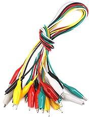 10pcs 50cm Cocodrilo Cable Alambre Clips de Dos Extremos Pinzas para Prueba