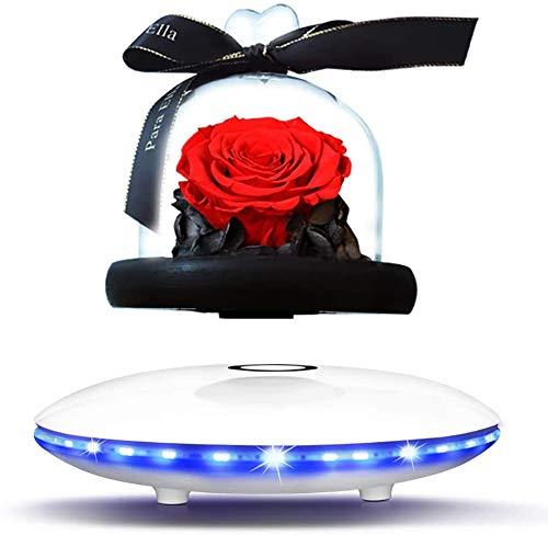 Creative Magnetic Suspension Speaker | Bluetooth-Lautsprecher und LED | Drahtloser schwebender Lautsprecher mit Mikrofon und Touch-Taste | Home Office Schreibtischdekoration | Einzigartige Geschenke
