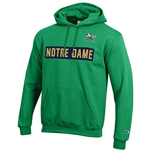 Champion NCAA Mens Team Color Gameday Hoodie Sweatshirt-Notre Dame Fighting Irish-Kelly Green-XL