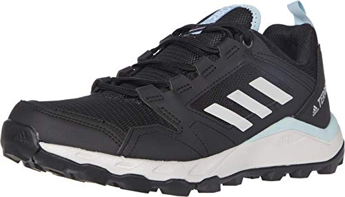 adidas womens Terrex Agravic Trail Running Shoe, Black/Grey/Grey, 9 US