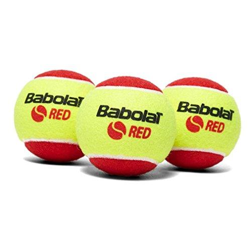 Babolat Red Felt X3 Pelota de Tenis, Unisex Adulto, Amarillo, Talla Única