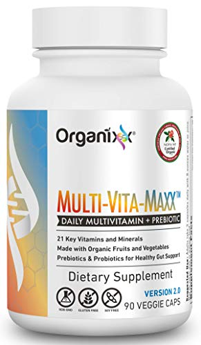 Organixx - Multi-Vita-Maxx - Whole Food Supplement - 90 Capsules - Fermented Vitamin Supplement, Immune & Digestive Support, Maximum Bioavailability