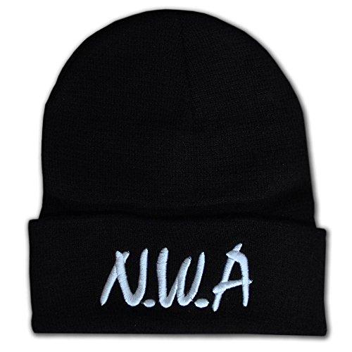 NWA Noir Bonnet d'hiver chaud Chapeau