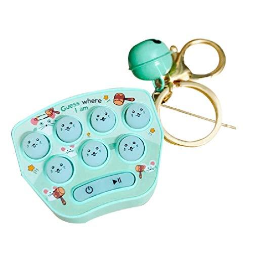 Incdnn Mini Hamster Jeu de mémoire Jouet Porte-clés LED Bouton de Hamster électronique Machine de Jeu Fidget Jouets Adultes pour Enfants Hamster Jeu de mémoire Jouet Hamster Machine de Jeu