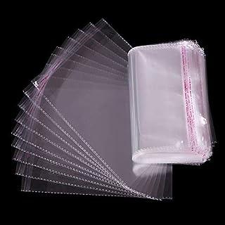 Tomkity 200pz Bustines Sacchettini Trasparenti Confetti Sacchetto Sigillato Plastica per Bomboniere del Battesimo Matrimon...