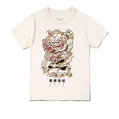 Camiseta original de estilo chino para hombre, manga corta, diseño de león de la dinastía Tang