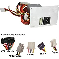 250 watts - more power than your original power supply Has -5V output just like your original unit, which is crucial to replacement. Without it the replacement will not work. Built for replacing Lotustronics and Macron model numbers ATX-350SD and MPT...