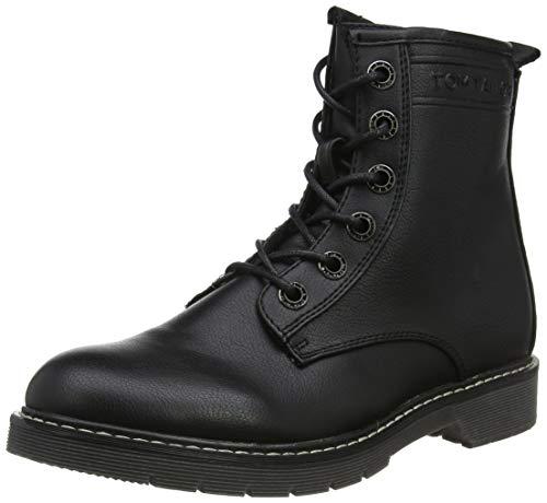 TOM TAILOR Damen 7992803 Stiefeletten, Schwarz (Black 00001), 38 EU