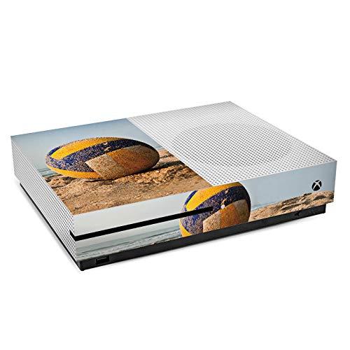 DeinDesign Skin kompatibel mit Microsoft Xbox One S Folie Sticker Volleyball Sand Hobby