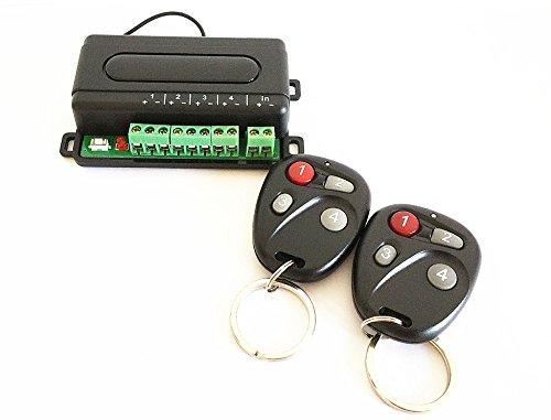 Universelle Steuereinheit mit Funkfernbedienung für 4 elektrische Verbraucher, Ghost-Hand, 3 verschiedene Schaltfunktionen