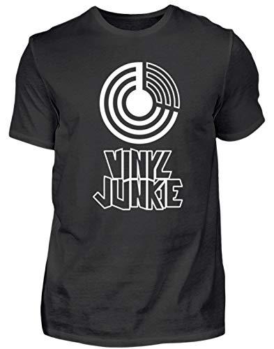 Generieke vinyl Junkie Junky Retro Vintage motief - eenvoudig en grappig design - heren shirt