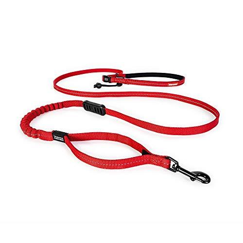 EzyDog Jogging Hundeleine für Kleine und Mittelgroße Hunde - Joggingleine Road Runner LITE 210cm - Leine zum Joggen mit Hund, Reflektierende, Elastische mit Bungee Ruckdämpfer (Rot)
