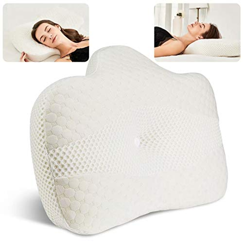 BEAUTRIP Memory Foam Cervical Neck Support Pillow for Sleeping   Ergonomic...