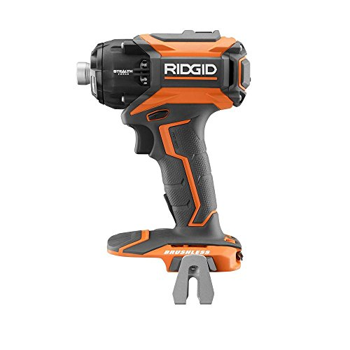 Ridgid 18-Volt Lithium-Ion Stealth Force 1/4 inch Cordless Brushless 3-Speed Pulse Driver (Tool Only)(R86036B)