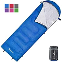 KingCamp Envelope Sleeping Bag with Compression Sack for Backpacking, Camping and Hiking (8 Colors)
