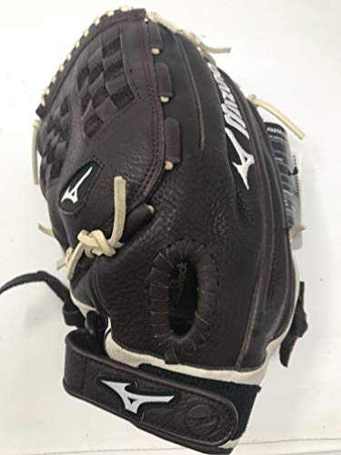 """Mizuno Franchise Fastpitch Softball Glove Series, Coffee/Silver Trident Web, 12.5"""", Right (Left Hand Throw)"""