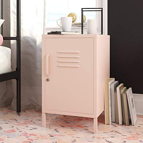 REALROOMS Shadwick Metal Locker End Table Pink product image