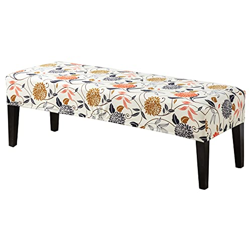 CRFATOP Dining Bench Cover Printed Bench Seat Cushion Slipcovers Stretch Upholstered Bench Slipcover Removable Washable Dining Chair Slipcovers for Bedroom Living Room,20