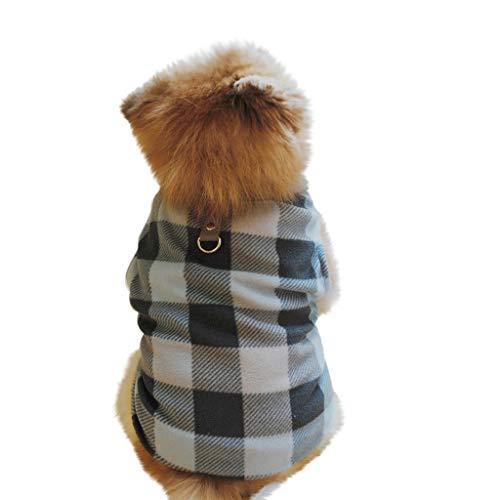 Amphia - Fleece-Reversweste - Haustier-Hundekatze Villus warme Weste-Welpen-Hündchen-Kleidungs-Kleidung(Schwarz,L)
