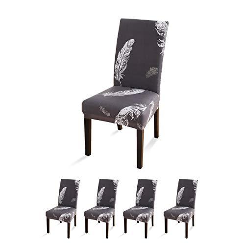VanderHome - Abdeckhauben für Hocker in Grau-weiß, Größe 4 Stück