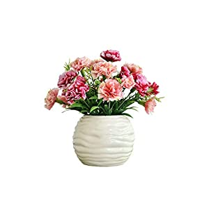 Artificial Trees European-Style Simulation Carnation Silk Flower Small Bonsai Simulation Flower Home Office Decoration Plastic Small Simulation Flower Artificial Plant (Color : C)