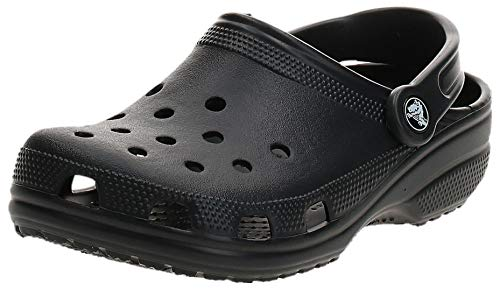 Crocs Classic Clog|Comfortable Slip On Casual Water Shoe, Black, 9 M US Women / 7 M US Men