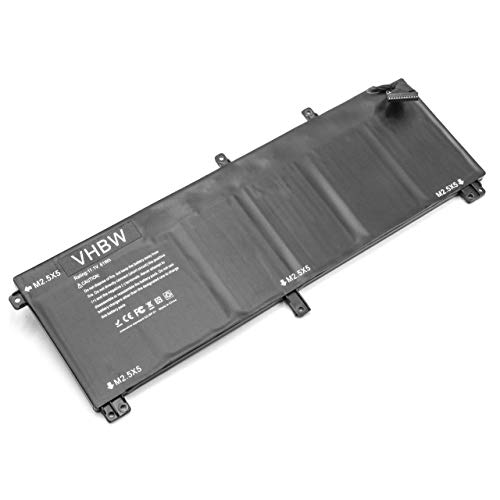 vhbw Battery replacement for Dell 07D1WJ, 0H76MY, 245RR, 7D1WJ, H76MV, M2.5X5, T0TRM, Y758W, CN-0T0TRM for Laptop (5400mAh, 11.1V, Li-Polymer)