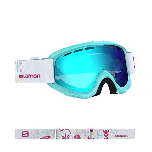 Salomon, Juke, Máscara de esquí para niños (6-12 años), Azul (Aruba Flower/Universal Mid Blue), L40848000