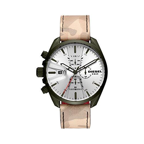 Diesel Herren Chronograph Quarz Uhr mit Leder Armband DZ4472